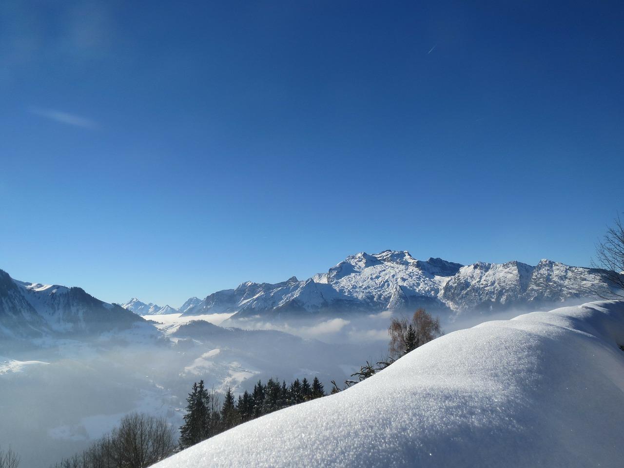 snow, france, la clusaz