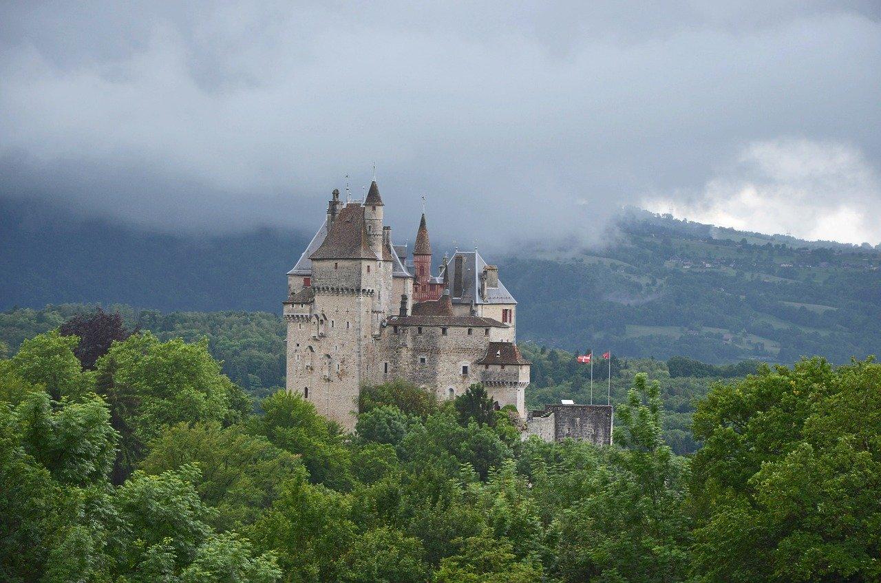 château de menthon-saint-bernard, castle, france
